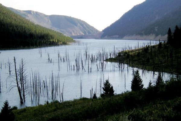 Nearby Quake Lake